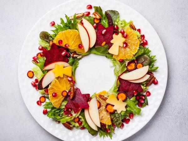 Vánoční ovocné saláty